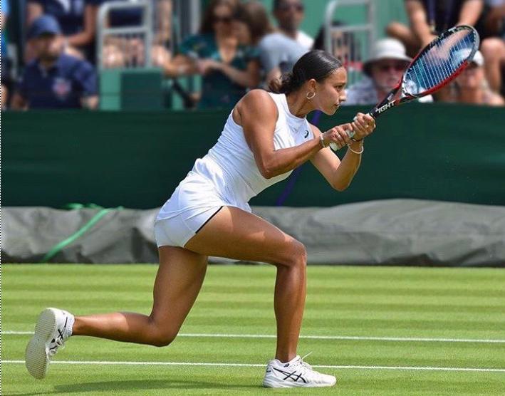 Eden Silva reaches the quarter finals of the mixed doubles at Wimbledon