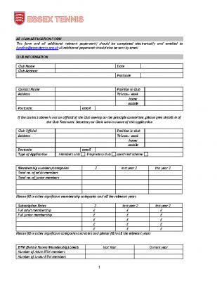AE Loan Application Form Jan 19c
