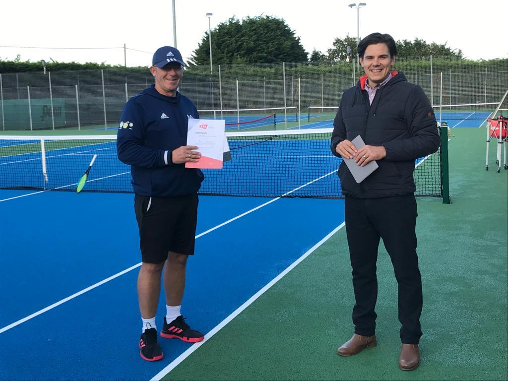 Andy Wilshaw Development Coach Award