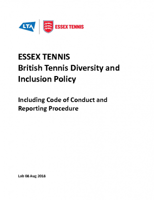 Essex Tennis Diversity and Inclusion Policy Dec 20