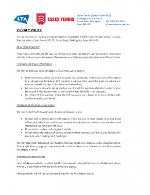 GDPR External Privacy Policy ECLTAxxx