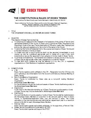 Essex Tennis Constitution and Rules Nov 20